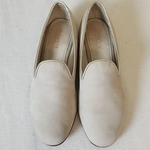 Coach Gray Leather Utopia Loafer